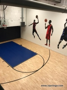 What what! An indoor basketball court.